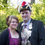 König Olaf mit seiner Königin Stephanie